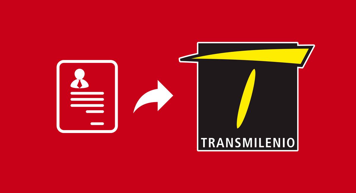 enviar hoja de vida transmilenio