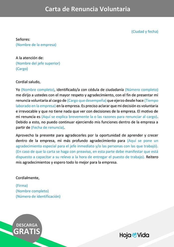 carta-de-renuncia-voluntaria-modelo